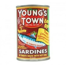 YOUNG'S TOWN SARDINES IN TOMATO SAUCE WITH  HOT CHILI 155 G
